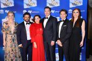 EVITA cast - Alexis van Maanen, Kurt Kansley, Tina Arena, Paolo Szot, Michael Falzon and Jemma Rix