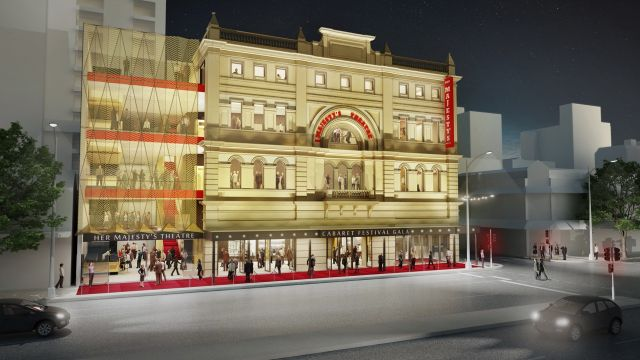 Concept plans for the redevelopment of her majesty s for Architecture firms adelaide