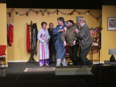 Seasons greetings stage whispers set design all technical aspects costumes and makeuphair help the actors create very believable characters and we feel as if we are watching real people m4hsunfo