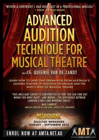 Advanced Audition Technique For Musical Theatre Course