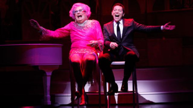 DAME EDNA BOWS OUT EARLY ON BROADWAY.