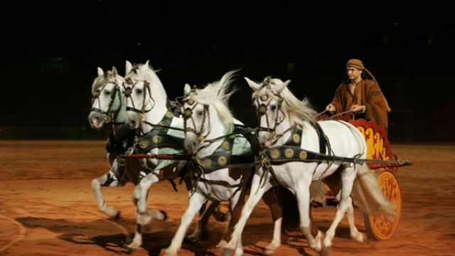 Bigger than Ben Hur? Chariot Race Spectacle Goes for Box Office Gold at Olympic Stadium.