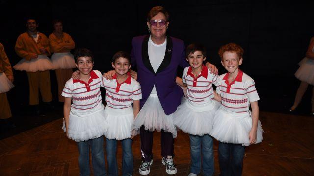 Elton John visits Billy Elliot in Sydney.