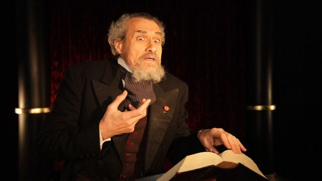 Charles Dickens Performs A Christmas Carol.