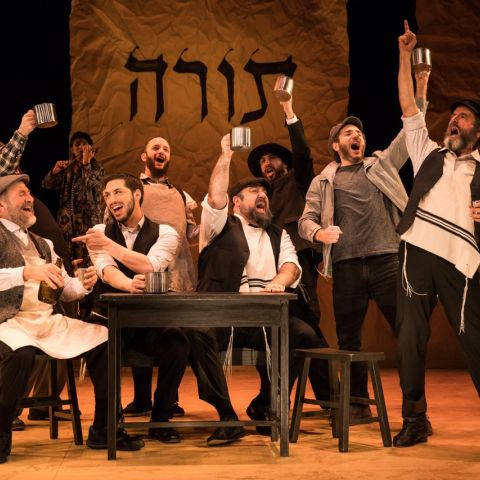 Fiddler on the Roof in Yiddish. Photographer: Matthew Murphy. US Cast