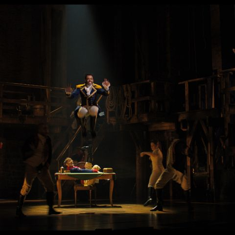 Daveed Diggs is Marquis de Lafayette in HAMILTON, the filmed version of the original Broadway production.