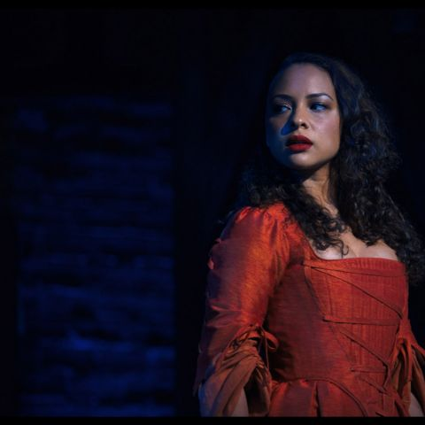 Jasmine Cephas Jones is Maria Reynolds in HAMILTON, the filmed version of the original Broadway production.